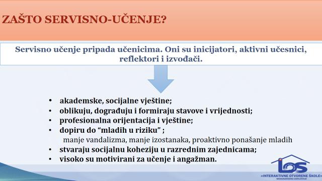 Doprinos primjene Servisnog-Učenja u razvoju djece