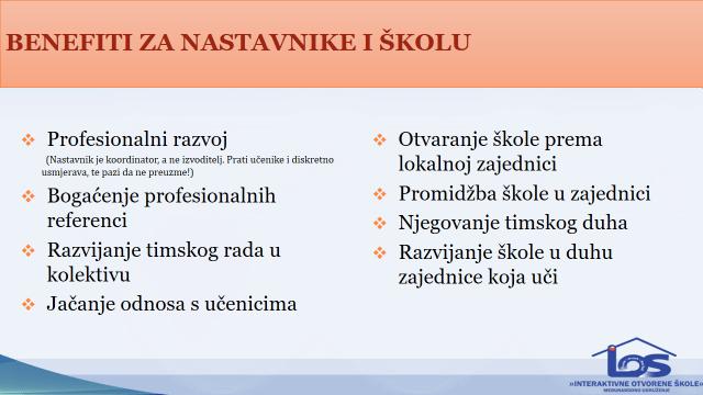 Koristi od Servisnog-Ucenja za kolektiv i skolu